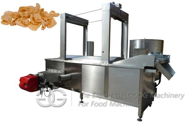 Gas Continuous Nuts/Pig Skin Frying Machine with Oil Filtering Function