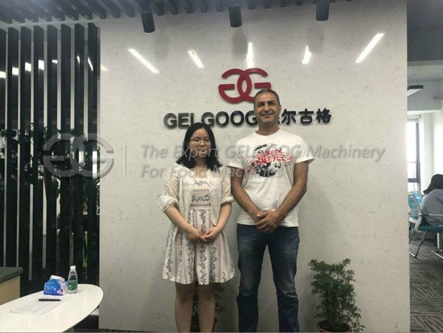 California customer visit our company