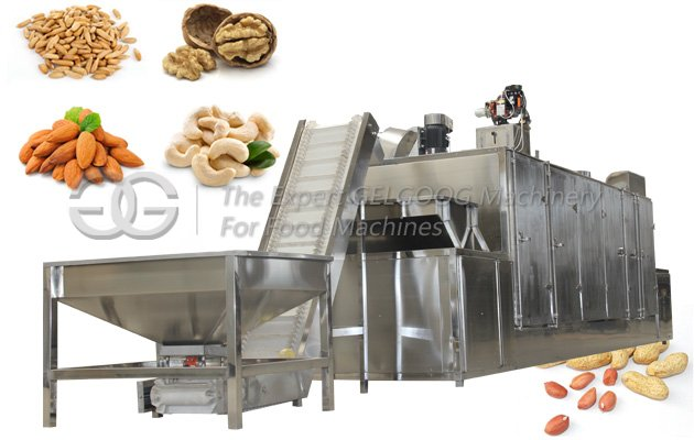 continuous almond roasting machine