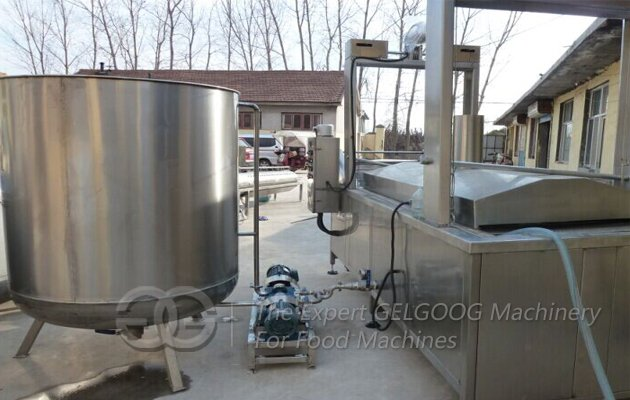 Continuous Peanut Fryer Machine