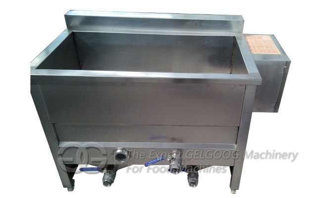 double tanks coated peanut fryer machine