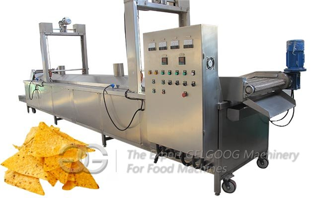 Continuous Corn Chips Fryer Machine