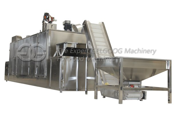 continuous almond roaster machine